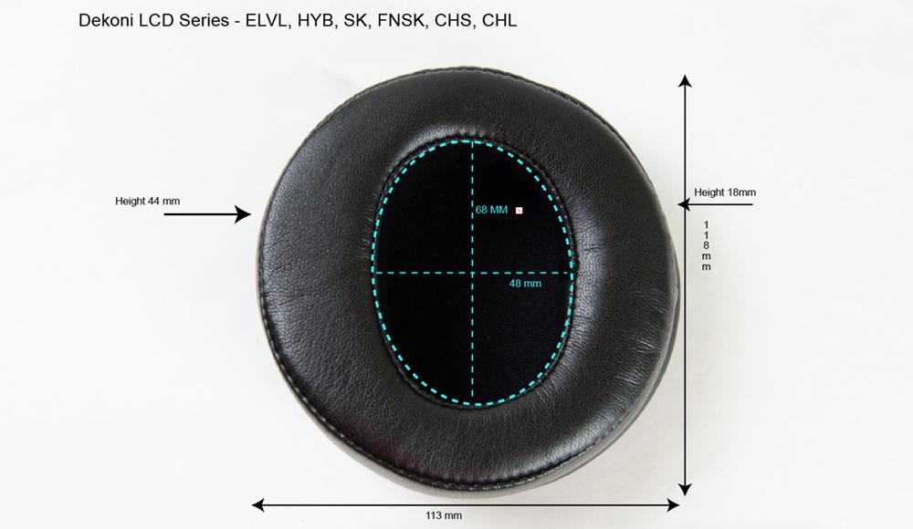 Dekoni EPZ-LCD-FNSK Abmessungen